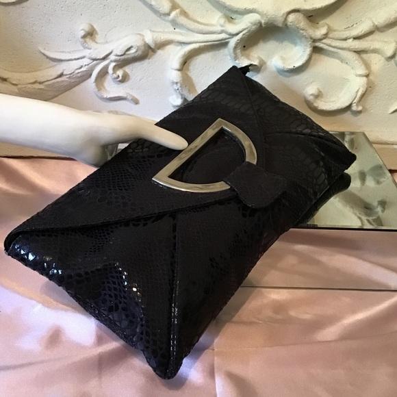 81873c7cc Suzie Lee Bags | Snake Embossed Leather Clutch Purse | Poshmark